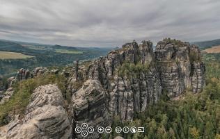 Foto Panorama von der Schrammsteinaussicht