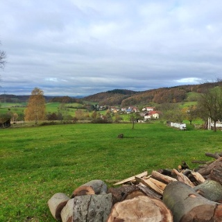 Ausblick auf den nördlichen Odenwald