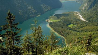 Blick von der Archenkanzel auf den Königssee.