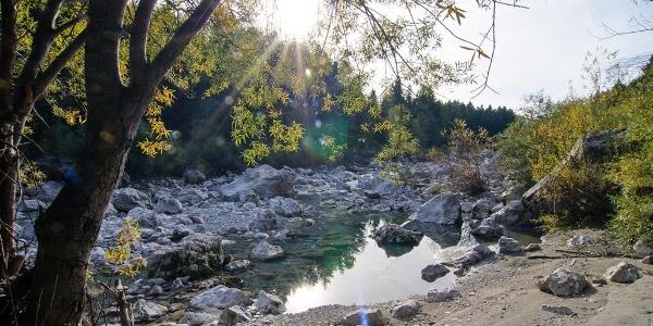 Der Fluss Gail in der Schütt