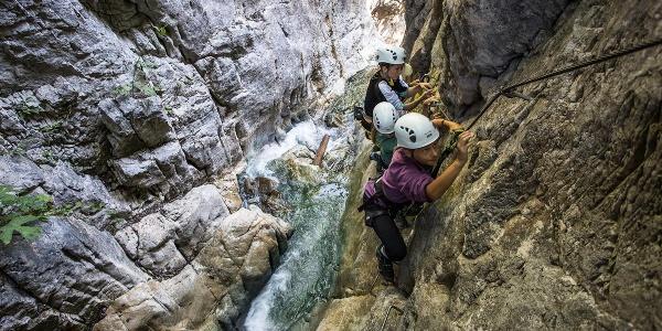 Klettersteig Röbischlucht