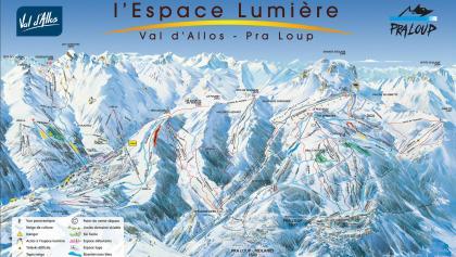 Winterpanorama Pra-Loup/La Foux d'Allos