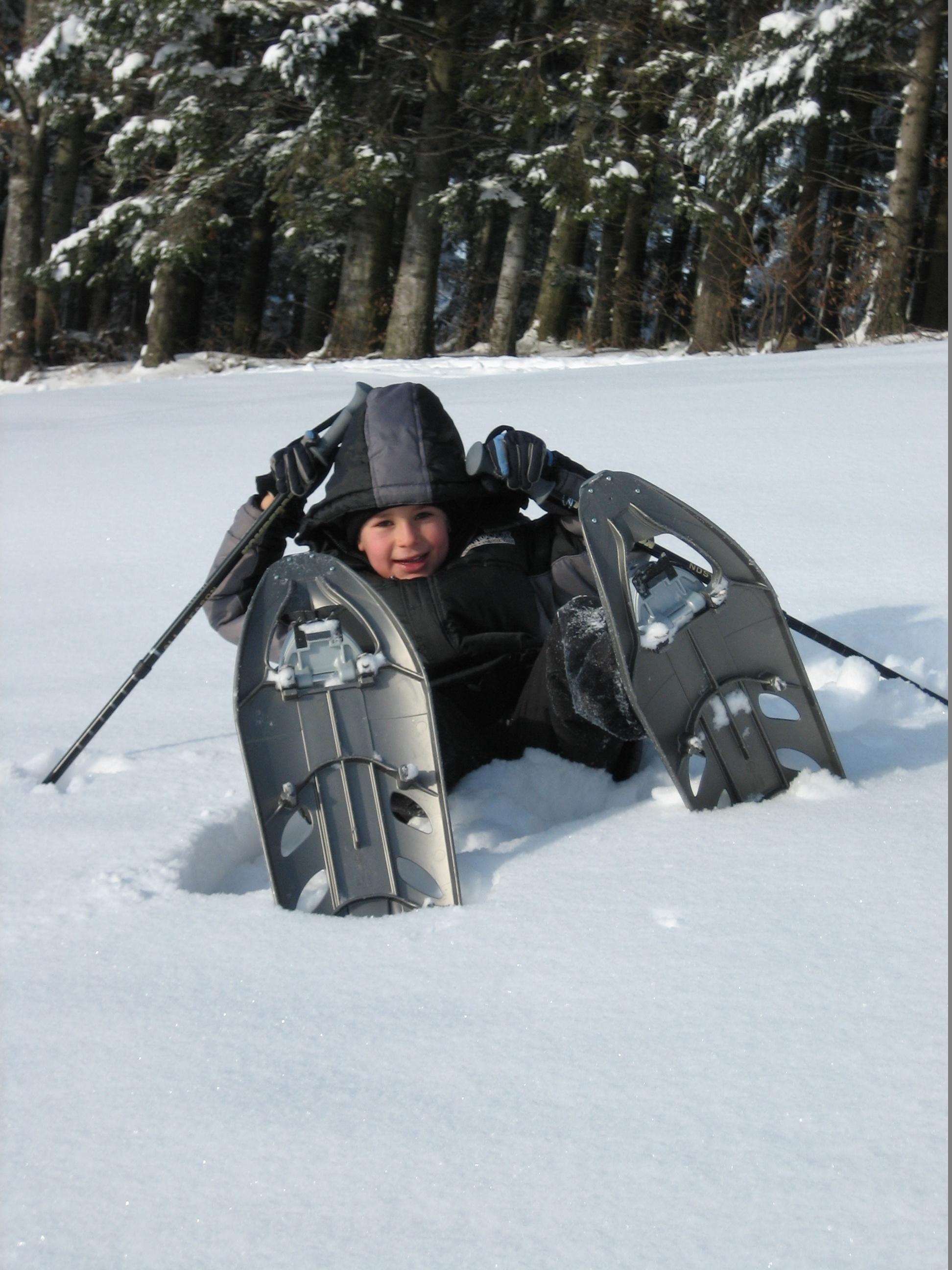 Schneeschuhwandern: Kinderleicht :)