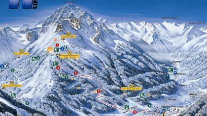 Winterpanorama Skigebiet Elferlifte