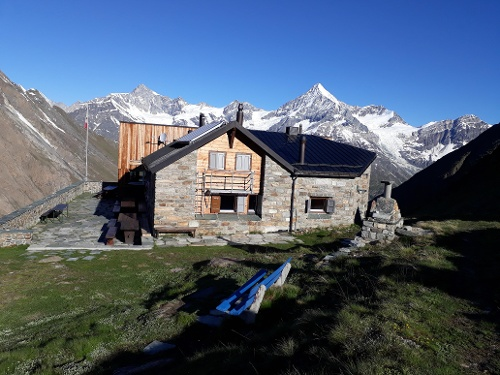 Täsch hut (3,701 m), run by the Swiss Alpine Club (SAC)