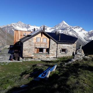 Täsch hut (3,701 m), run by the Swiss Alpine Club (SAC)