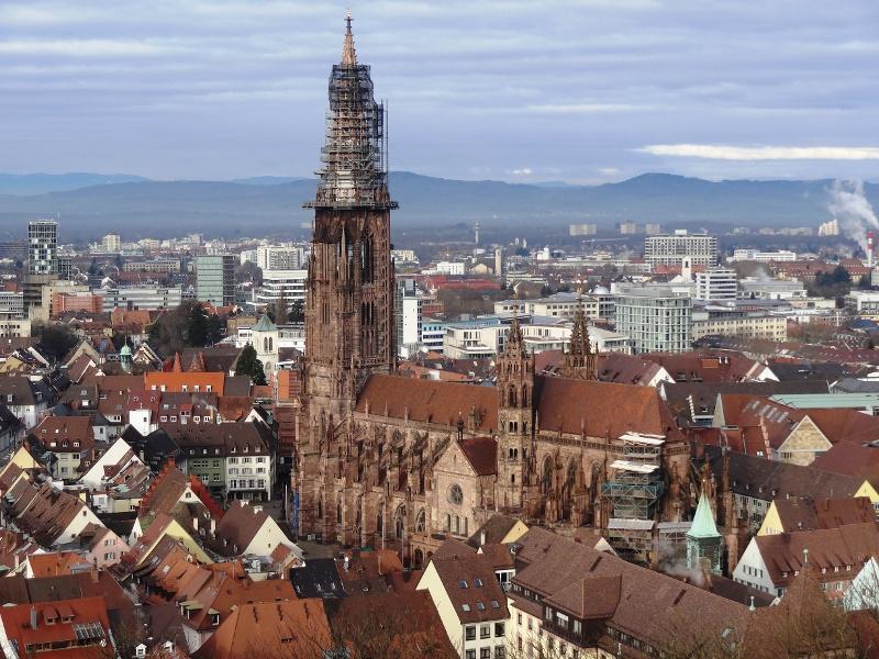 Breisgauer Weinweg 1. Etappe Freiburg nach  Föhrental Kreuz Glottertal