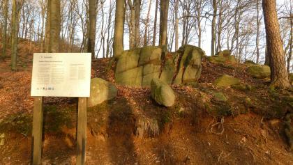 Geologischer Rundgang Lindenfels - Infotafel Granitgrus