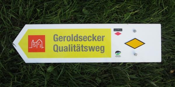 Geroldsecker Qualitätsweg Zusatzschild