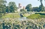 Foto Gondelteich mit Blick auf das Schloss Großenhain