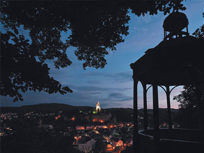 Aussicht vom Bismarcktempel bei Nacht
