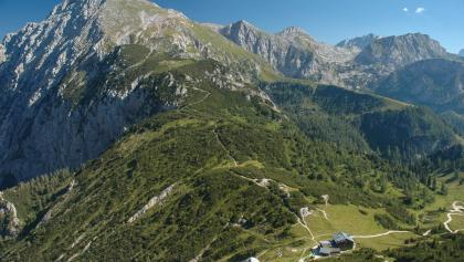 Anstieg zum Schneibstein (Vordergrund Stahlhaus)