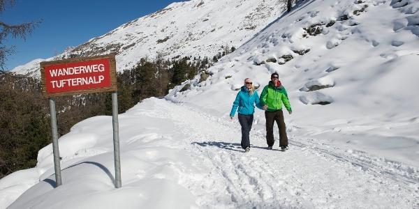 Along the Sunnegga - Tufteren winter hiking trail