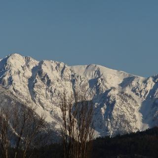 Hochobir  gesehen von Klagenfurt aus