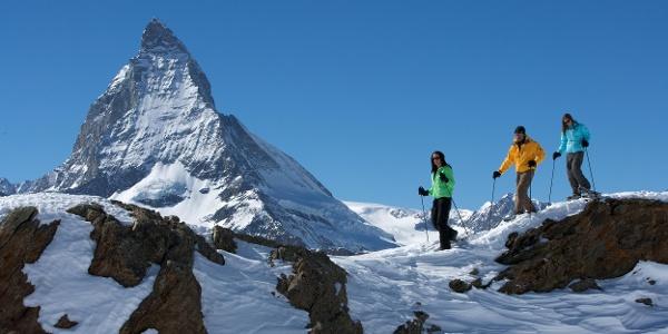 Randonnée en raquettes avec panorama hivernal