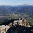 Ausblick am Gipfel der Gehrenspitze auf Reutte