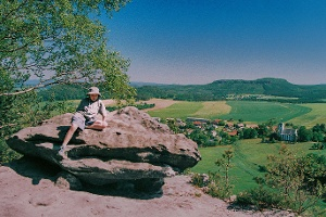 Foto Blick auf Papstdorf