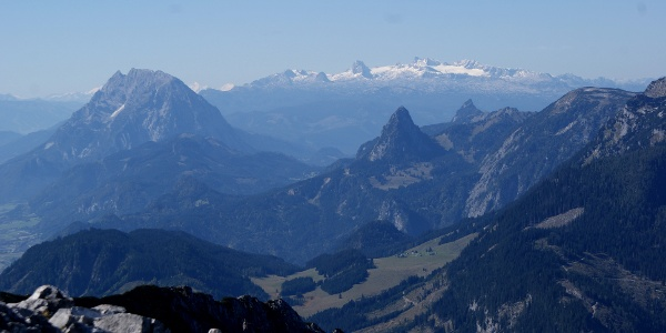 Blick zu Grimming u.  Dachstein