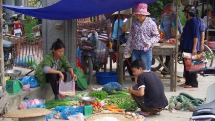 Markt in Duong Lam