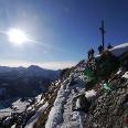 Am Gipfel des Einstein im Winter