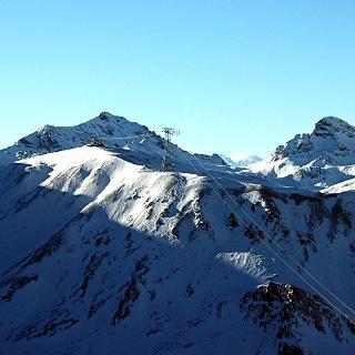 Bergstation der neuen Piz Val Gronda E5 Seilbahn