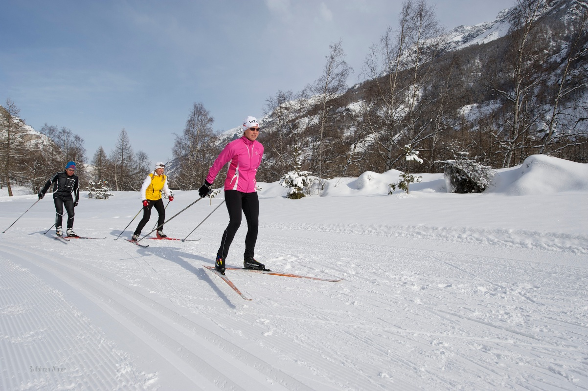 Cross-country skiing in Täsch