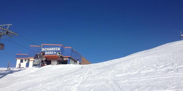 kürzester Anstieg - beste Aussicht: Von der Bergstation erreicht man in wenigen Minuten den Schareck-Gipfel