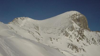 Gipfel mit Aufstiegsroute