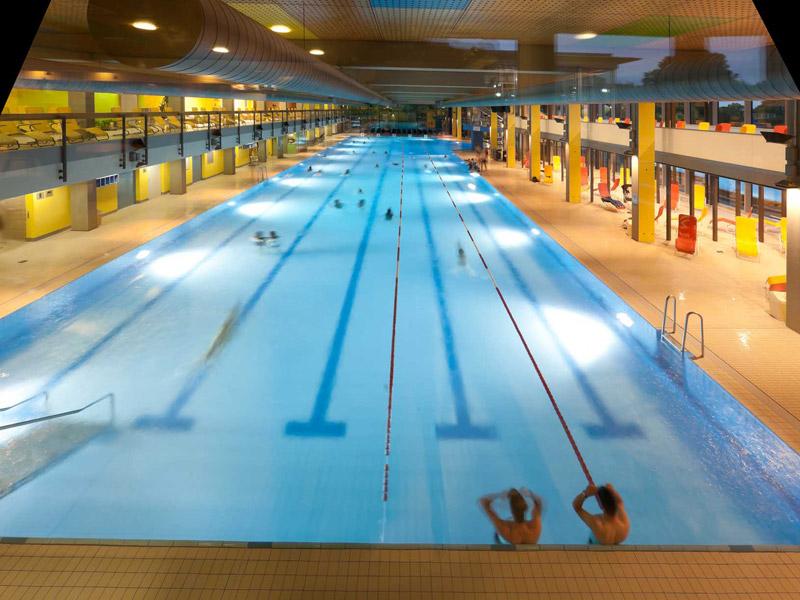 Ein echter Workout für Aktive ist das 50 Meter lange Sportbecken  - @ Autor: Beate Philipp  - © Quelle: Schenkenseebad