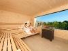 Entspannen in der Saunalandschaft mit herrlichem Ausblick  - @ Autor: Beate Philipp  - © Quelle: Schenkenseebad