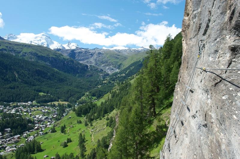 Klettersteigset Schweiz : Klettersteig schweifinen route b zermatt schweiz