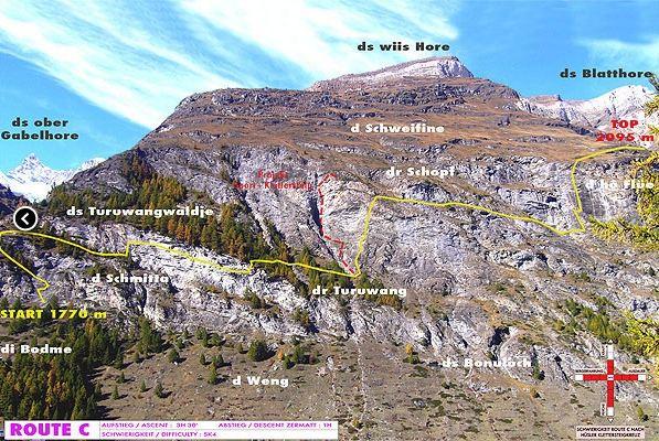 Klettersteig C : Salewa klettersteig iseler oberjoch b c mit bergführerplatte