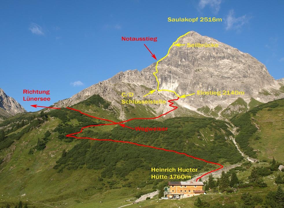 Klettersteig Map : Klettersteig saulakopf urlaub in vorarlberg