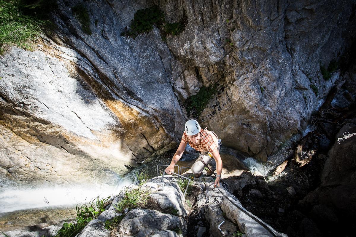 Klettersteig Montafon : Klettersteig rongg wasserfall Österreichs wanderdörfer