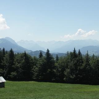 Aussicht auf die Allgäuer Alpen