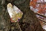 Blick in die Heidensteinhöhle