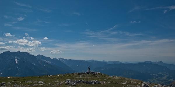 Auf dem Gipfelplateau des Schneibsteins.