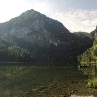 Gleinkersee mit Seespitz und Seegraben durch den der Anstieg führt