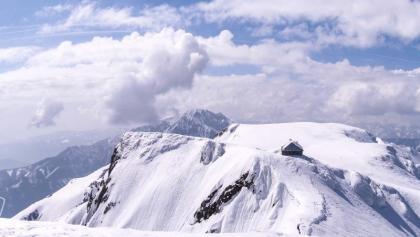 Blick vom Gipfel auf die Reichensteinhütte