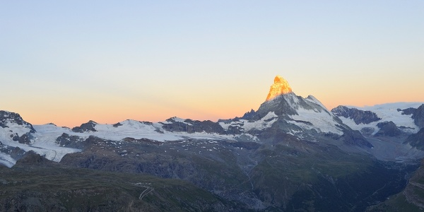 The Matterhorn shows its most photogenic side here
