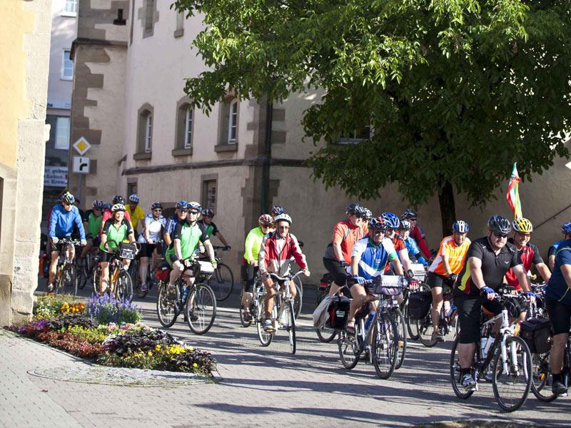 Crailsheim liegt direkt am beliebten Kocher-Jagst-Radweg  - @ Autor: Beate Philipp  - © Quelle: Hohenlohe + Schwäbisch Hall Tourismus e.V.