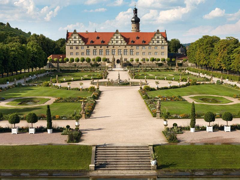 Der Schlosspark Weikersheim zählt zu den schönsten in Baden-Württemberg   - © Quelle: Schloss Weikersheim