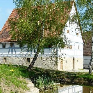 Dorfteich im Freilandmuseum Wackershofen