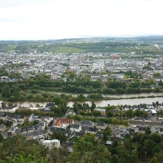 Blick von der Mariensäule auf die Trierer Innenstadt
