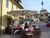 Gemütliche Rast zwischen oder nach den Fahrten an der Lammbrauerei Untergröningen  - @ Autor: Beate Philipp  - © Quelle: Hohenlohe + Schwäbisch Hall Tourismus e.V.