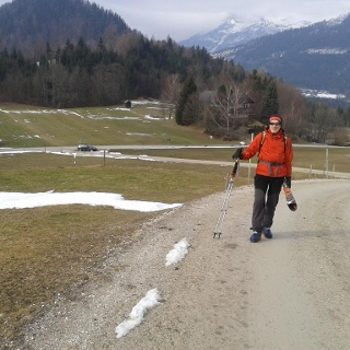 Die Schneesituation in Bad Aussee beim Ausgangspunkt