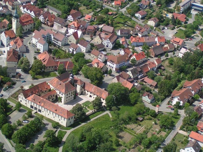 Luftbild von Schrozberg  - @ Autor: Beate Philipp  - © Quelle: Fritz Stöhr