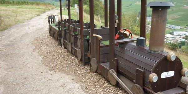 Der Huxlay-Express (Saufbähnchen) auf dem Huxlay-Plateau oberhalb vom Mehring.