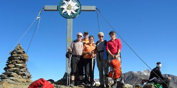 Mittlere Guslarspitze Gipfelkreuz