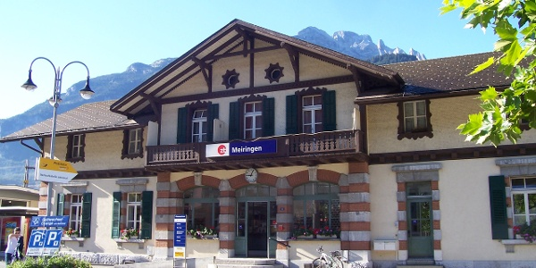 Der Bahnhof in Meiringen.